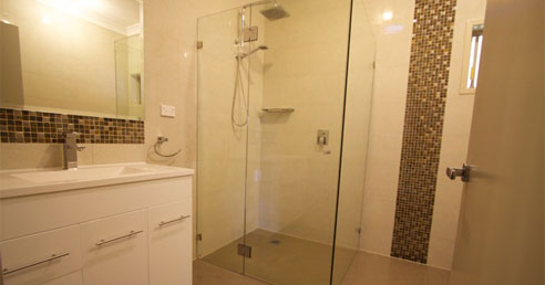Newly Renovated Bathroom with Frameless Shower Screen